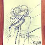 Sakura and Shaoran - Welcome home Kiss