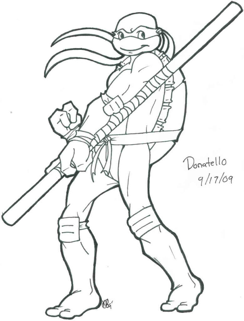 Scrap: Donatello-Lineart by Shellsweet on DeviantArt
