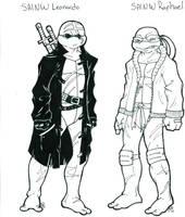 Scrap: SAINW Leo and Raph by Shellsweet