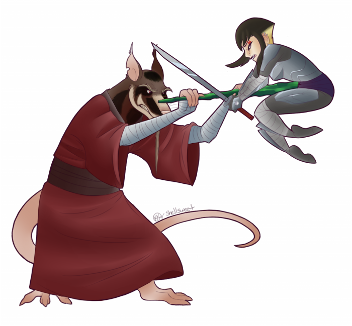 Master Splinter Vs. Karai by Shellsweet on DeviantArt