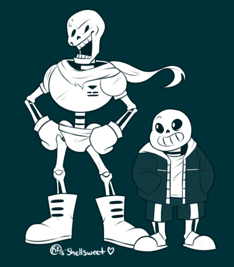 THE GREAT PAPYRUS + Sans by Shellsweet on DeviantArt