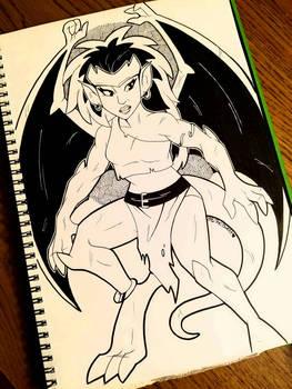 Inktober Day 9: Demona