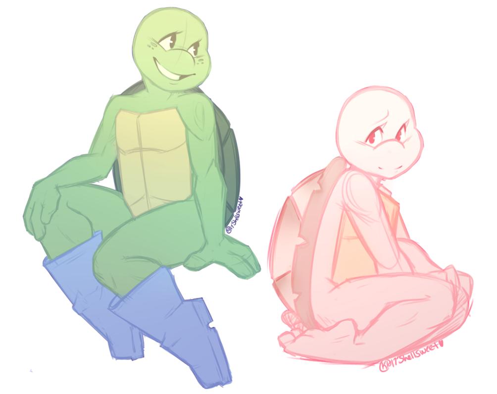 Scrap: Little Turtle Girls by Shellsweet