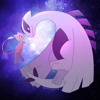 Mew And Lugia by Shellsweet