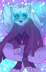 Snowy Alopex by Shellsweet