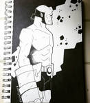 Inktober Day 15: Hellboy