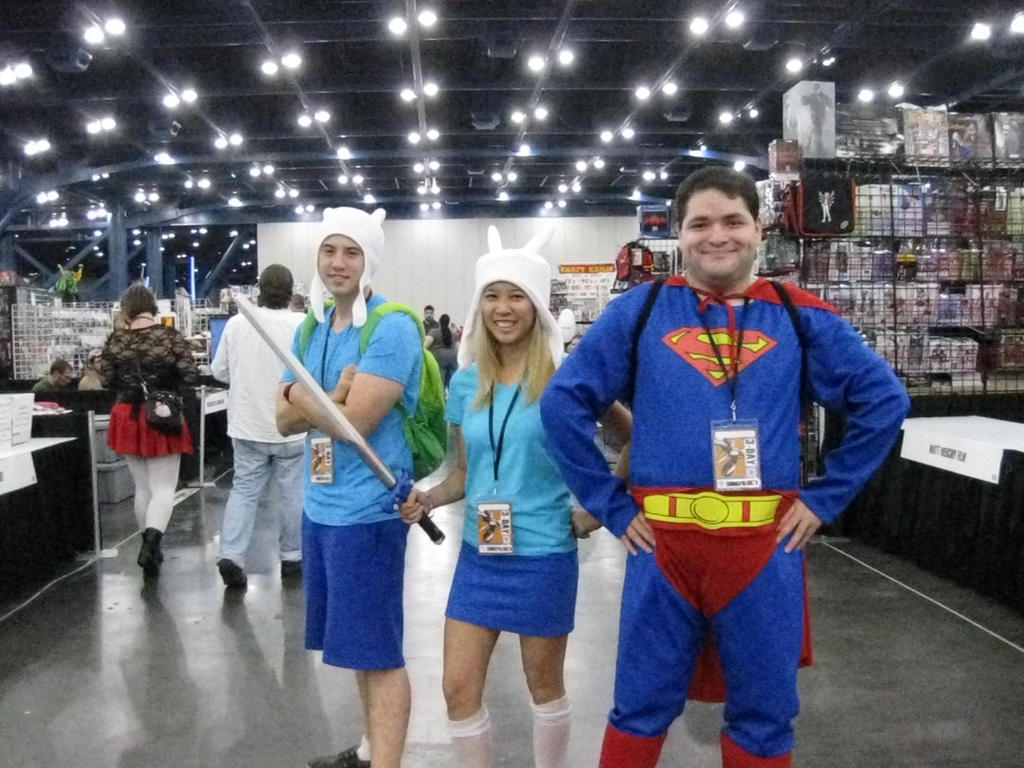 Finn, Fiona, and Superman by Urvy1A