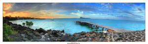 Mauritius Jetty Sunset