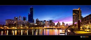 Melbourne Skyline by Furiousxr