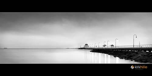 St Kilda Pier BnW by Furiousxr