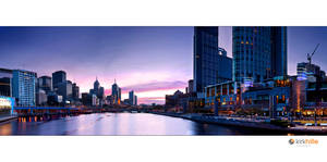 Melbourne Skyline Sunrise by Furiousxr