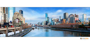 Melbourne Skyline Day Time