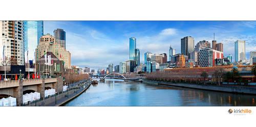 Melbourne Skyline Day Time by Furiousxr