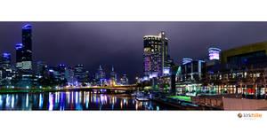 Melbourne Skyline Night Time