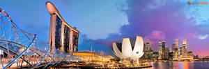 Singapore from Helix Bridge