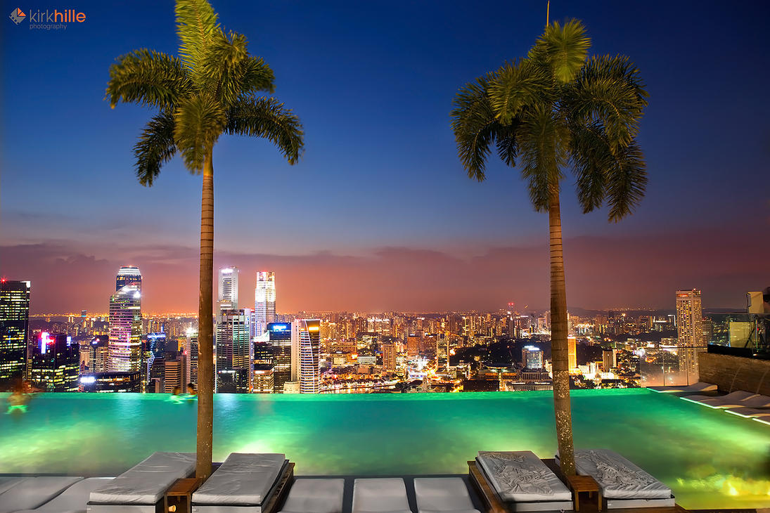 Marina Bay Sands Infinity Pool by Furiousxr