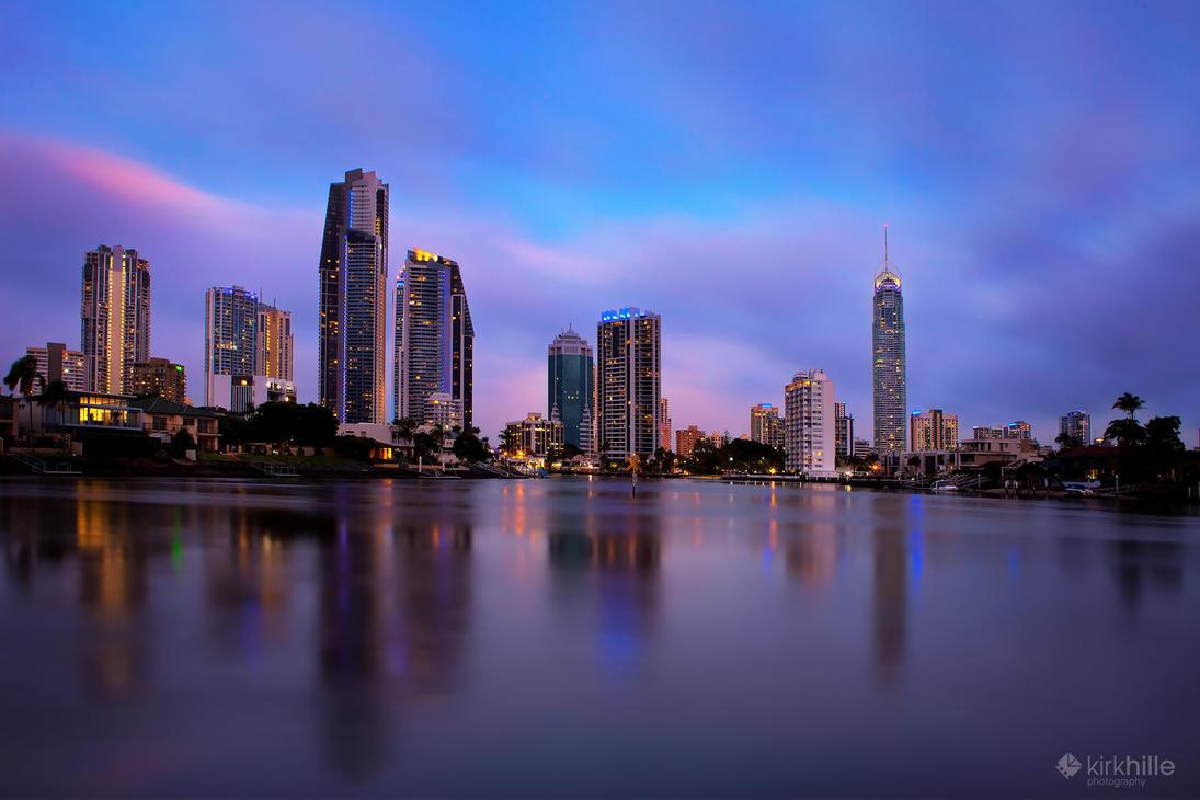 Gold Coast Skyline by Furiousxr