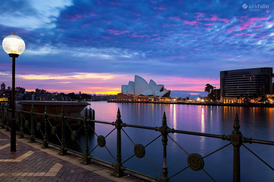 Sydney Opera House Sunrise by Furiousxr