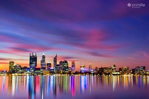 Perth City Skyline by Furiousxr