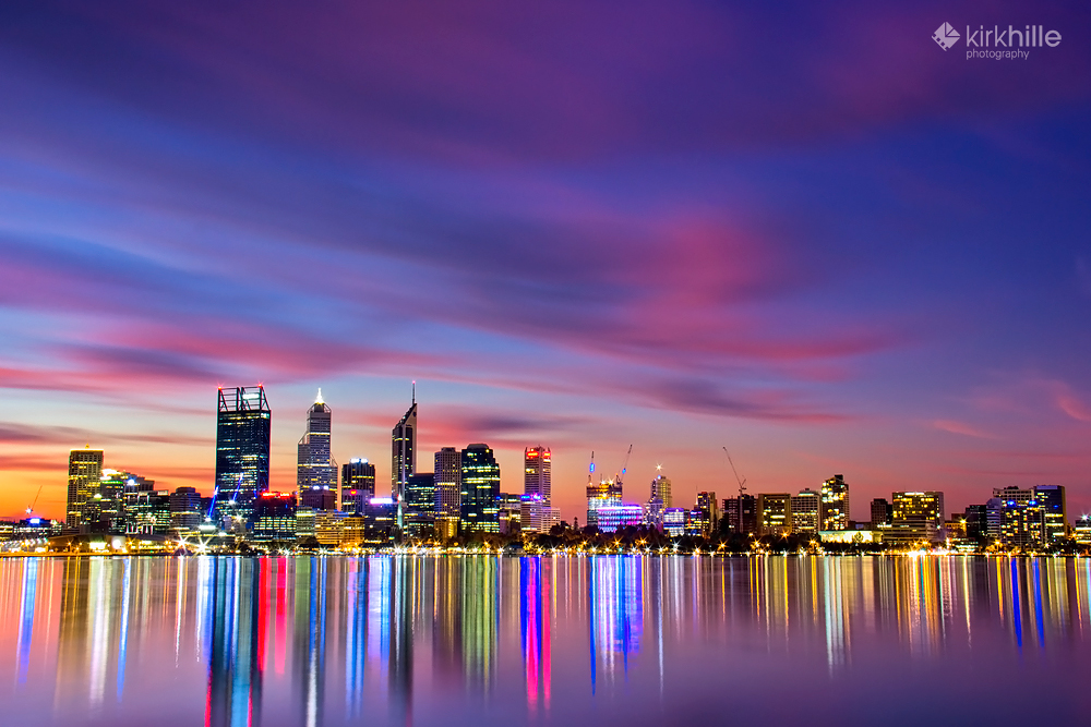 Perth City Skyline by Furiousxr