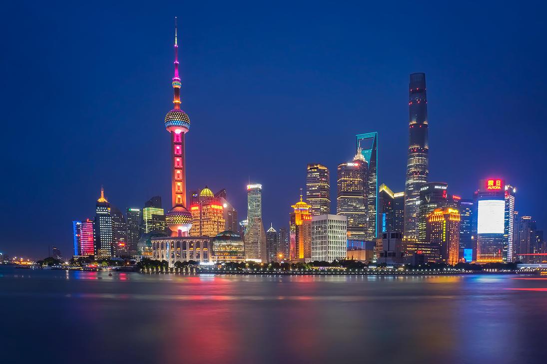Shanghai - Lights by Furiousxr