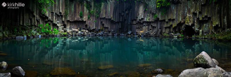 Cheonjeyeon Waterfall - South Korea - Jeju Island
