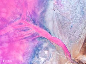 Kalbarri Pink Salt Lake Western Australia