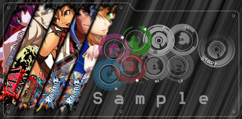 Commission: Rebel Up styled arcade stick