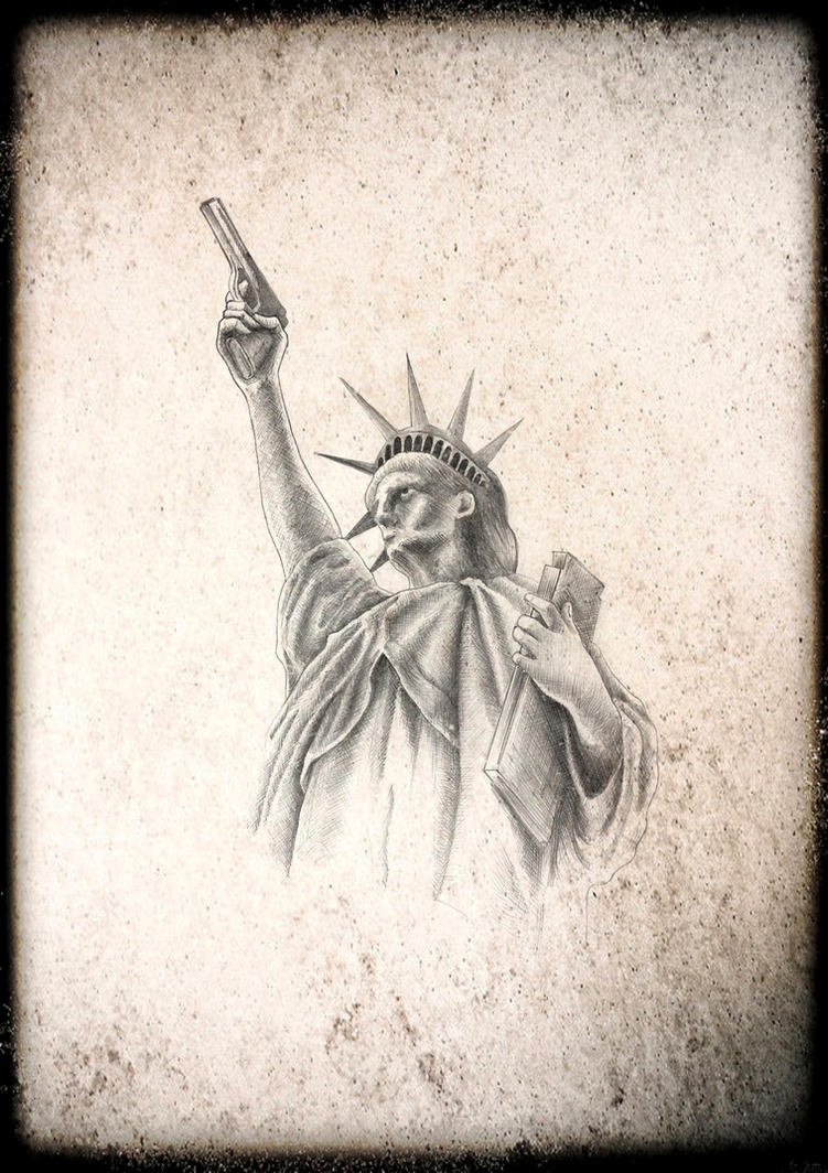 statue of liberty b by nimrod tattoo on deviantart. Black Bedroom Furniture Sets. Home Design Ideas