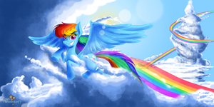 Rainbow Dash: Champion Flyer by FilmmakerJ