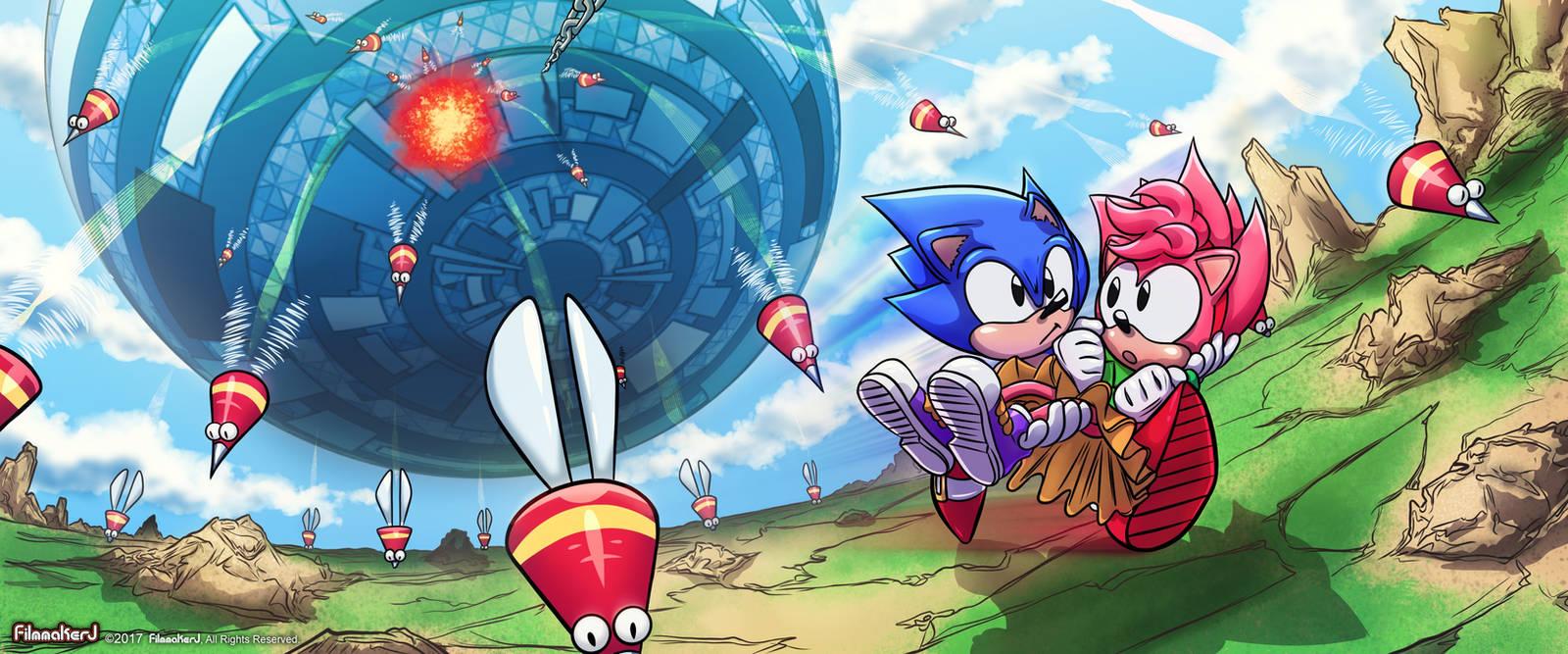 Sonic CD - My Hero by FilmmakerJ