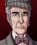 Sherlock Holmes Caricatures - CHRISTOPHER LEE