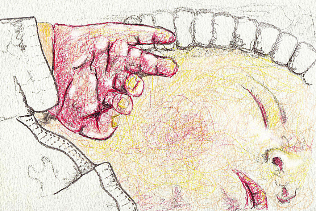 Hands 18 Hours Old Sketch by Rhyton