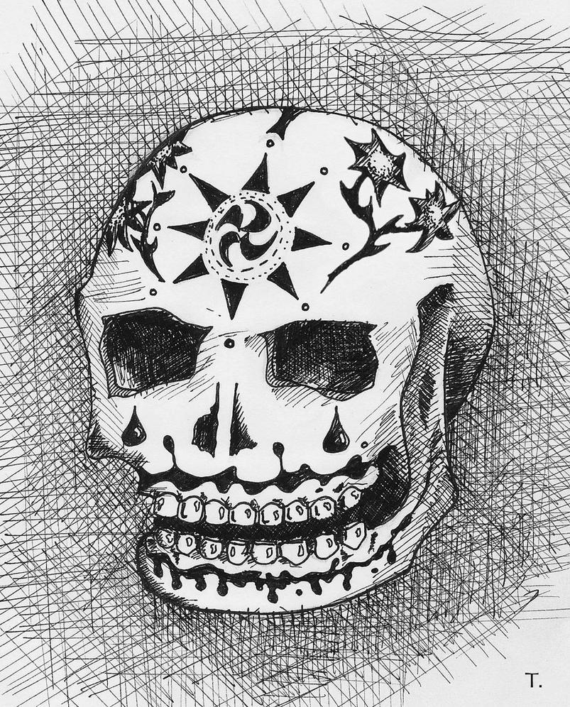 Candy Skull Corsshatch by Rhyton