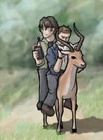 SPN: Sam, Dean, Impala by sqbr