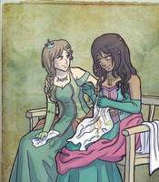 Seven Kingdoms: Penelope and Cordelia by sqbr