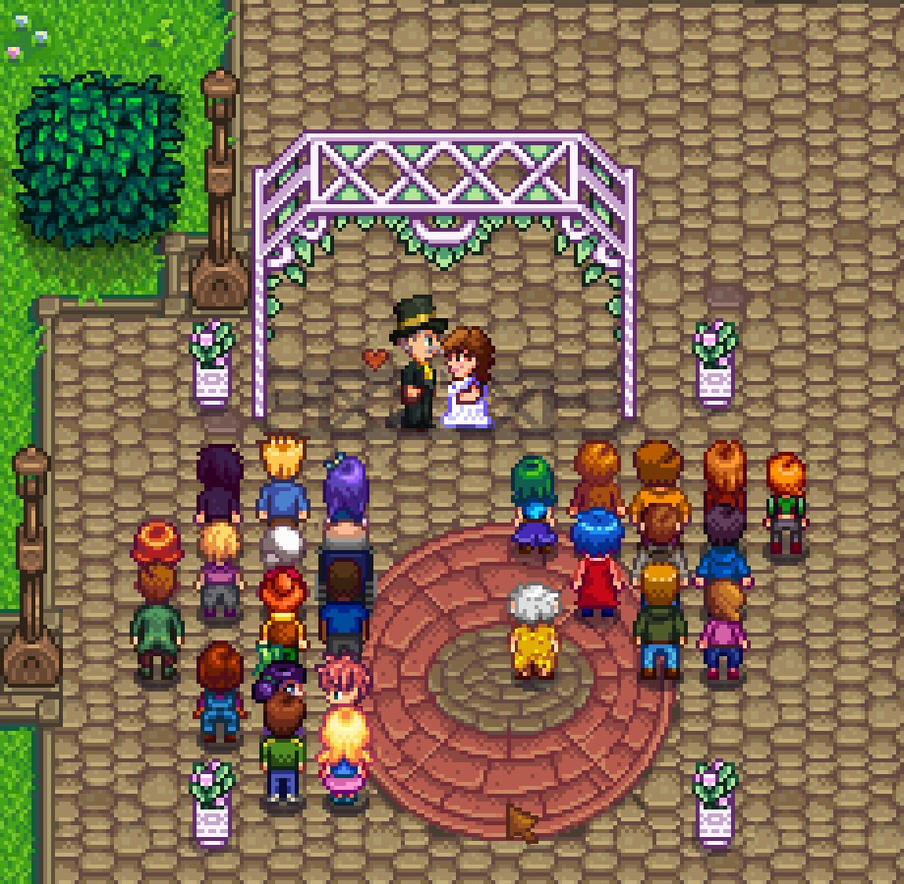 Stardew Valley: Marnie and Lewis get married by sqbr on
