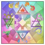 Four Elements: Coloured