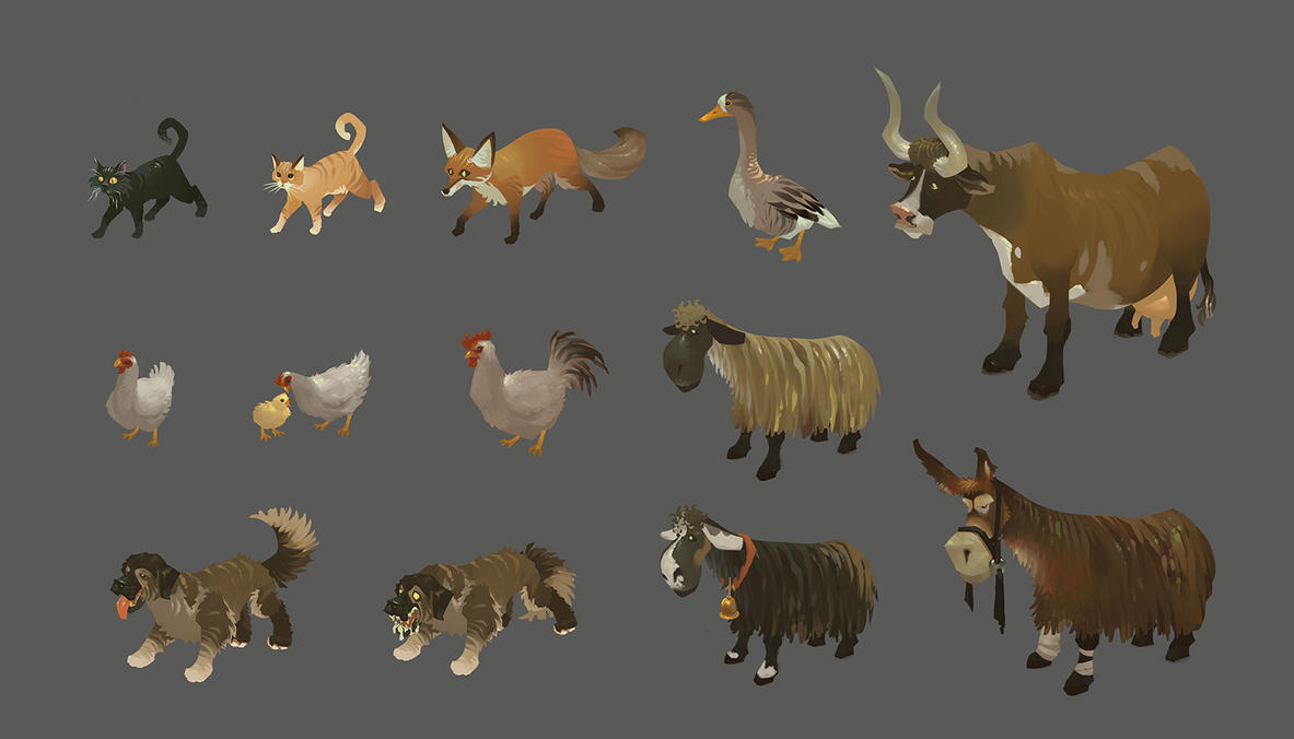 farm animals by andyWEASEL