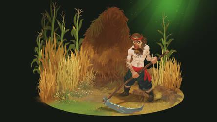 Peasant Scythe Comp 01 by andyWEASEL