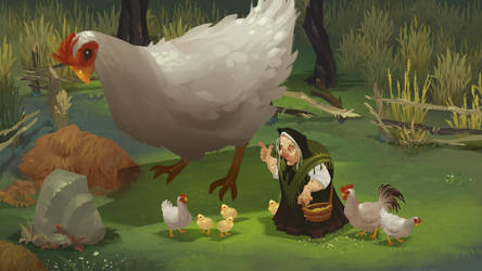 Cluckzilla by andyWEASEL