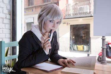 Study time - Nakajima Atsushi (school outfit) by Albitxito