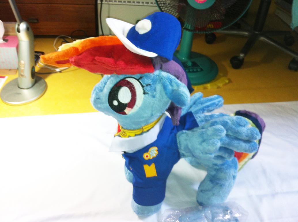 Drill Officer Rainbow Dash Plush by Kardien
