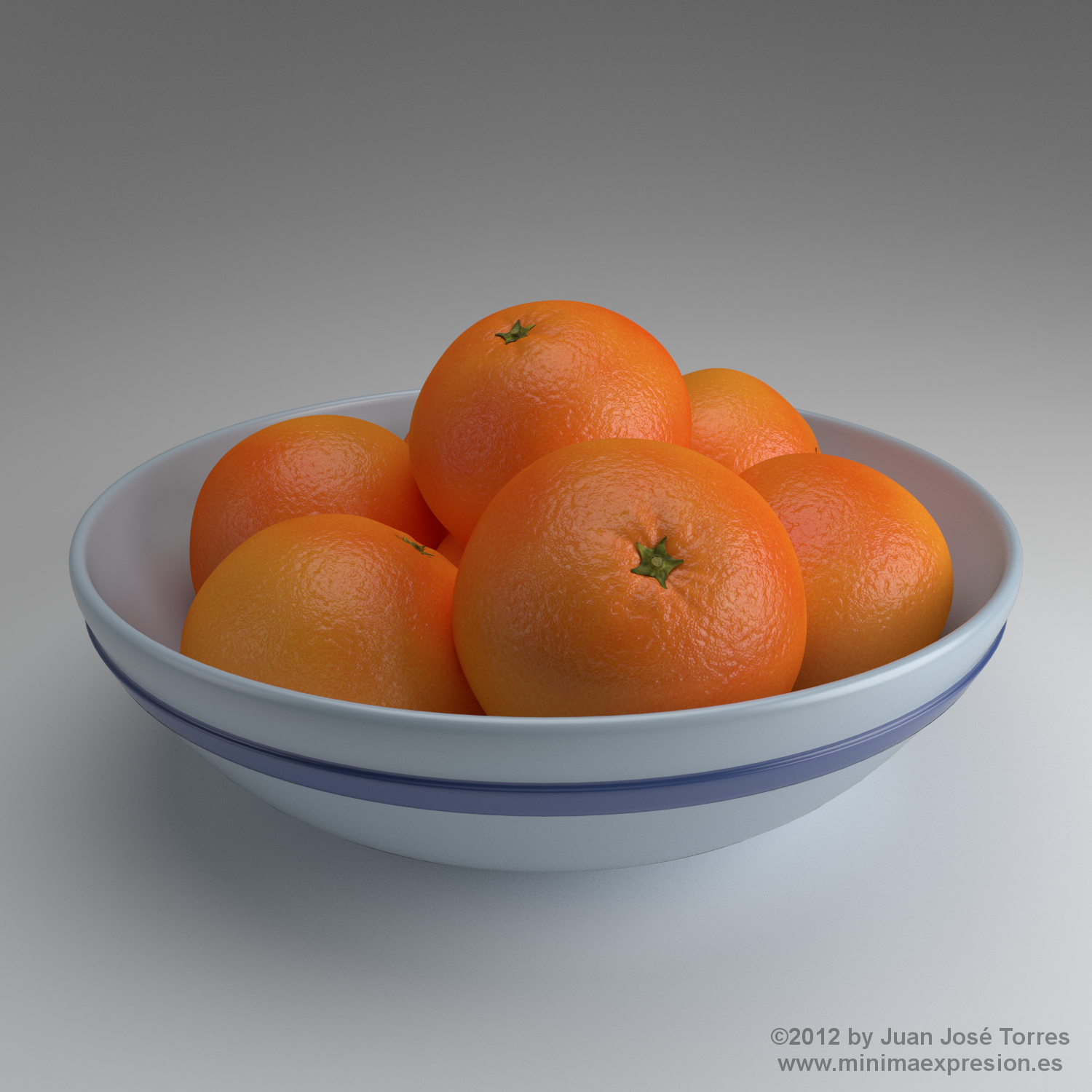 Oranges in a fruit bowl - A procedural materials study