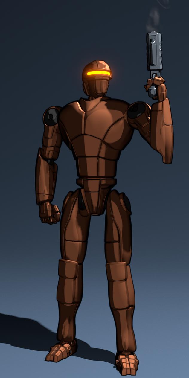 New Robot Design - Cartoon Style Preview by JuanJoseTorres