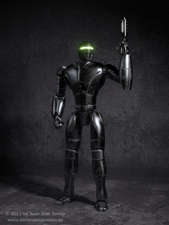 New Robot Design - Shading and Texturing by JuanJoseTorres