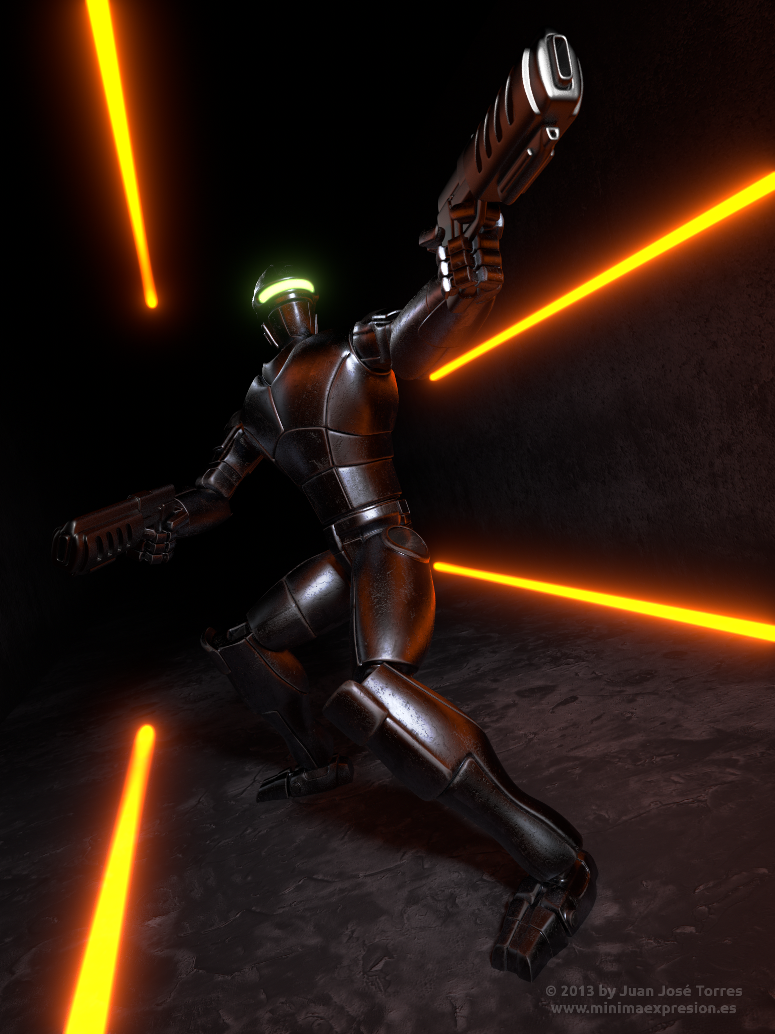 New Robot Design - Posing Test by JuanJoseTorres