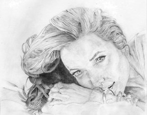 Angelina Jolie by Violintrick by Traditional-Art