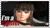 Hitomi - I'm a Fighter Stamp by SnowTheWinterKitsune