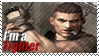Bayman - I'm a Fighter Stamp by SnowTheWinterKitsune
